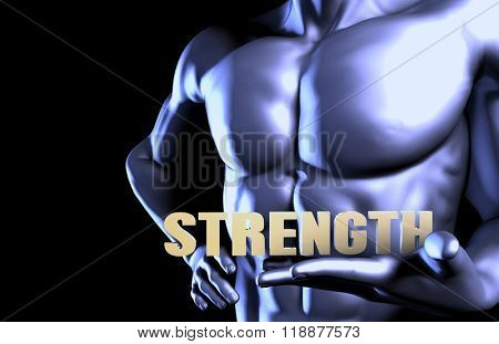 Strenght With a Business Man Holding Up as Concept