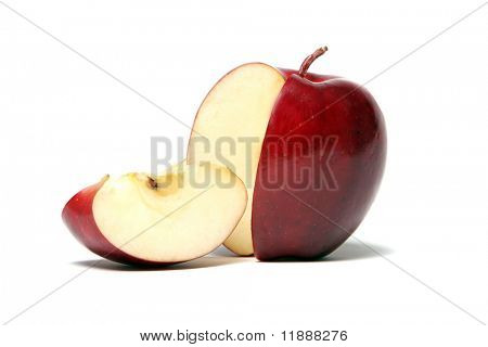 Slice of red delicious apple