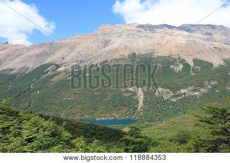 Mountain and blue lake