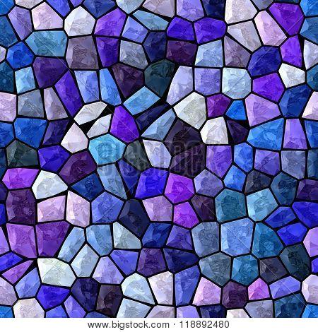 Blue And Purple Marble Irregular Plastic Stony Mosaic Seamless Pattern Texture Background