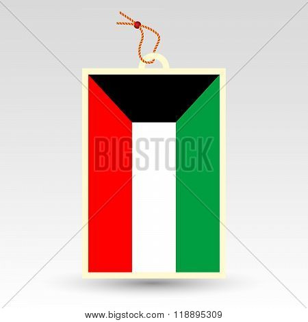 Vector Simple Kuwaiti Price Tag - Symbol Of Made In Kuwait
