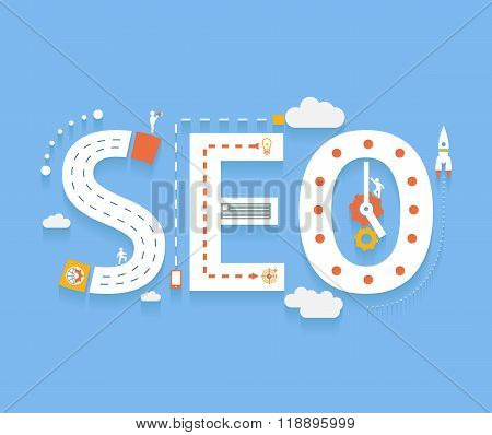 seo word concept
