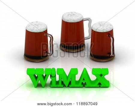 Wimax Bright Volume Word 3 Cup Beer On