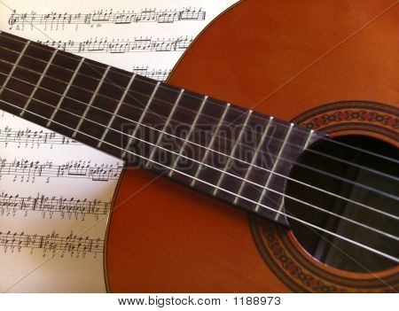 Guitar And Partiture