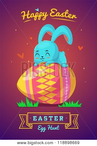 Set of Easter characters. Vector cute cartoons