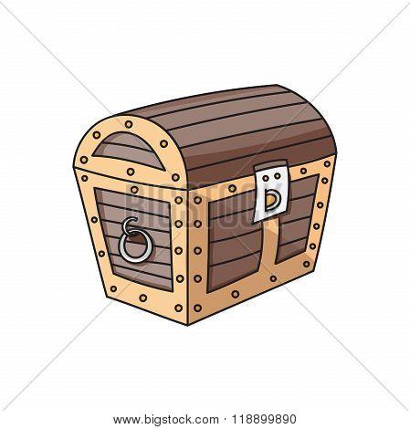 wooden box, chest