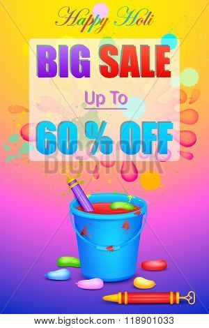 Holi Sale promotion poster
