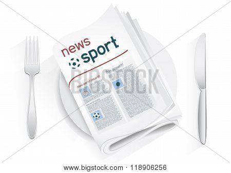sport news tablewares