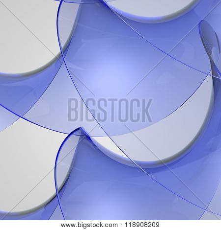 Abstract Glass Shapes. Abstract Background. Red Glass.