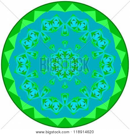 Greenish Small Mandala