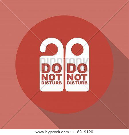 Do Not Disturb Sign. Vector Illustration