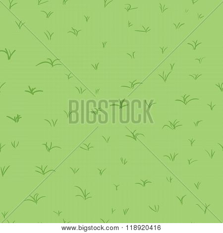 Seamless abstract pattern with green grass