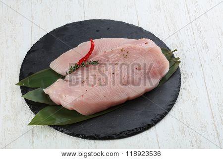 Raw Turkey Breast Steak