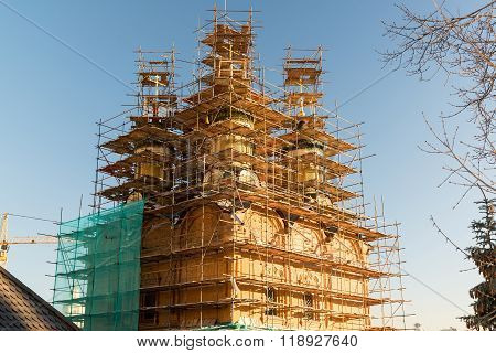 Reconstruction of a Cathedral Sign of the Mother  God in Moscow, Russia