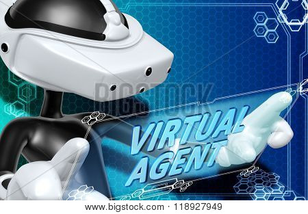 Virtual Reality VR Goggles Glasses Headset Device Concept Background