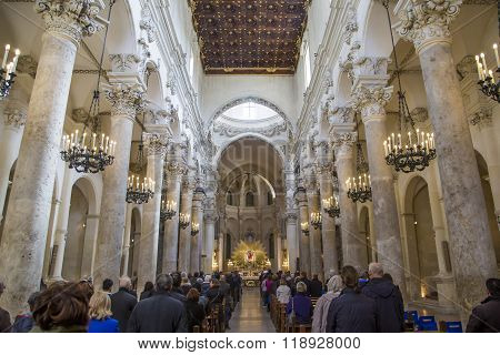 Lecce Cathedral In Italy