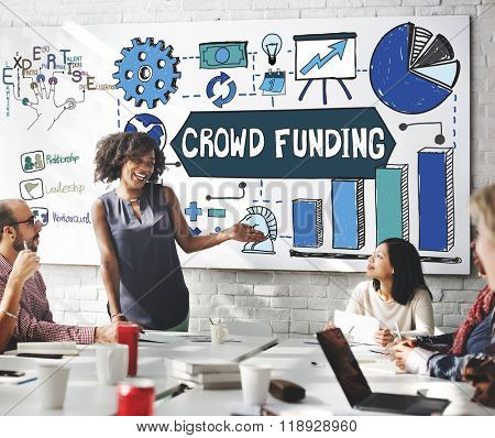 Crowd Funding Finance Fundraising Concept