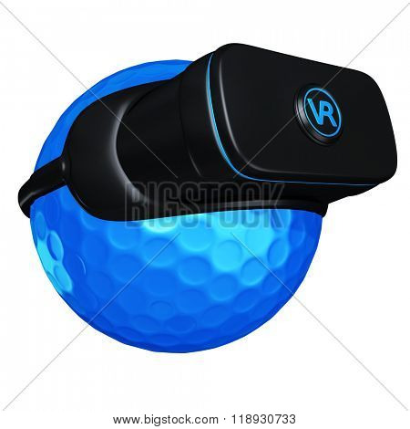 Virtual Reality VR Golf Goggles Glasses Headset Device