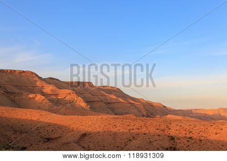 Magestic Mountains Landscape At The Bottom Of The Big Crater Hamakhtesh Hagadol