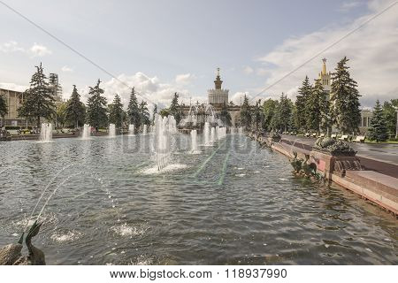 MOSCOW; RUSSIA- JULY 13- Fountain