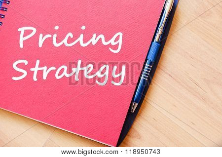 Pricing Strategy Write On Notebook