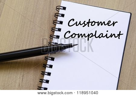 Customer Complaint Write On Notebook
