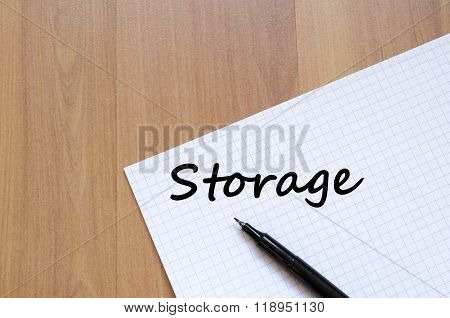 Storage Write On Notebook