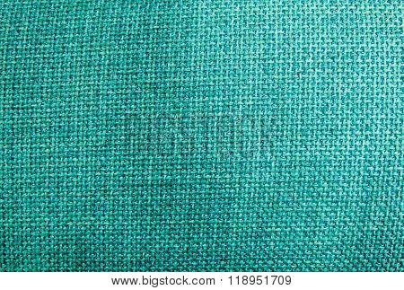 Pastel Background Of Green Sack Textile Texture