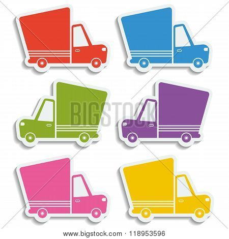 Van Delivery Vector Set