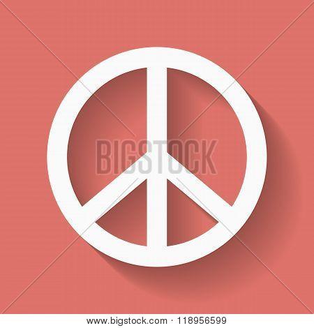 Peace sign. Hippie symbol of peace