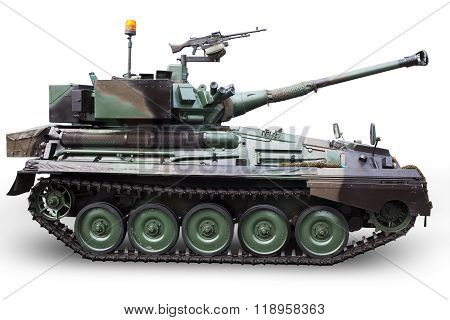 Military Tank With Weapon