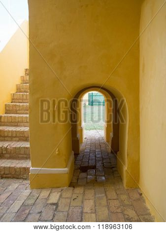 Arched Hallway At Ft. Christiansted