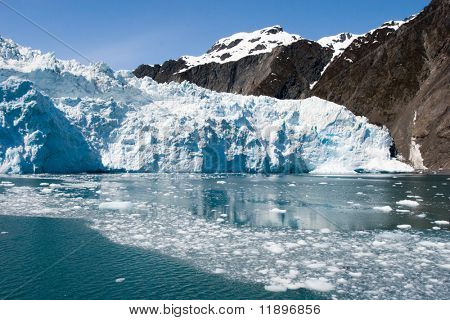 Traveling to Hubbard Glacier in Alaska poster