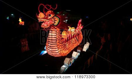 Dragon Boat Handmade Chinese Lantern