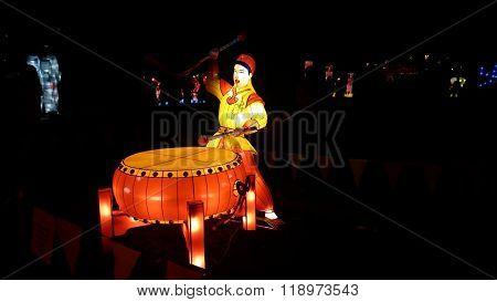 Drummer Handmade Chinese Lantern