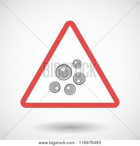 Warning Signal Icon With Oocytes