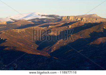 Moncayo summit, 2316 m., Moncayo Natural Park, Zaragoza, Aragon, Spain poster