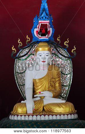 A Budha statue in temples in Bagan, Myanmar
