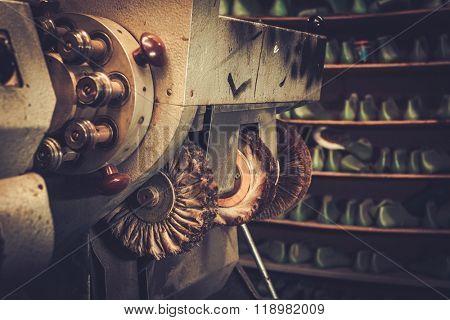 Shoemaker studio craft polishing machine.