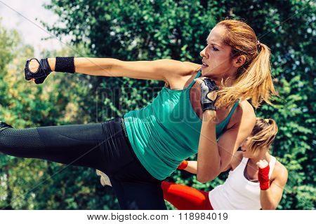 Side Kicks In Taebo Training