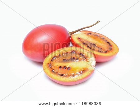 tamarillo isolated on white background in studio