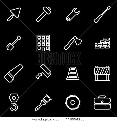 Vector line construction icon set