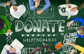 Donate Helping Hands Kindness Give Concept poster