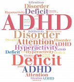 ADHD - Attention deficit hyperactivity disorder. Disease abbreviation. poster