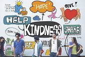Kindness Kindly Optimistic Positive Giving Concept poster