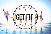 Get Fit! Healthy Activity Cardio Exercise Concept poster