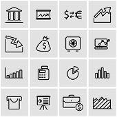 Vector line economic icon set. Economic Icon Object, Economic Icon Picture, Economic Icon Image - stock vector poster
