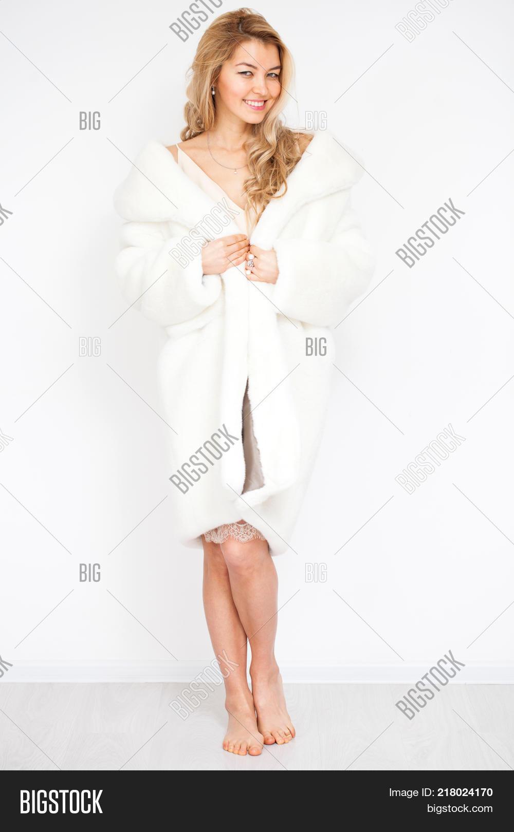 That necessary. Beautiful blonde in fur coat return