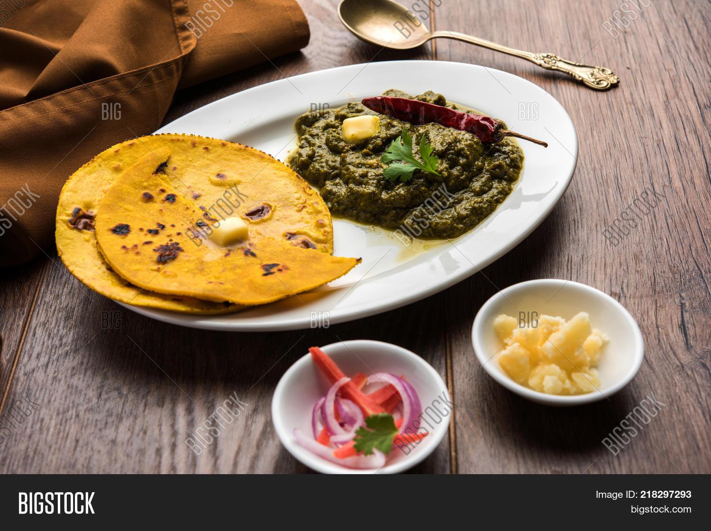 Sarson ka saag makki image photo free trial bigstock sarson ka saag makki ki roti popular north indian main course menu usually prepared in winter forumfinder Choice Image