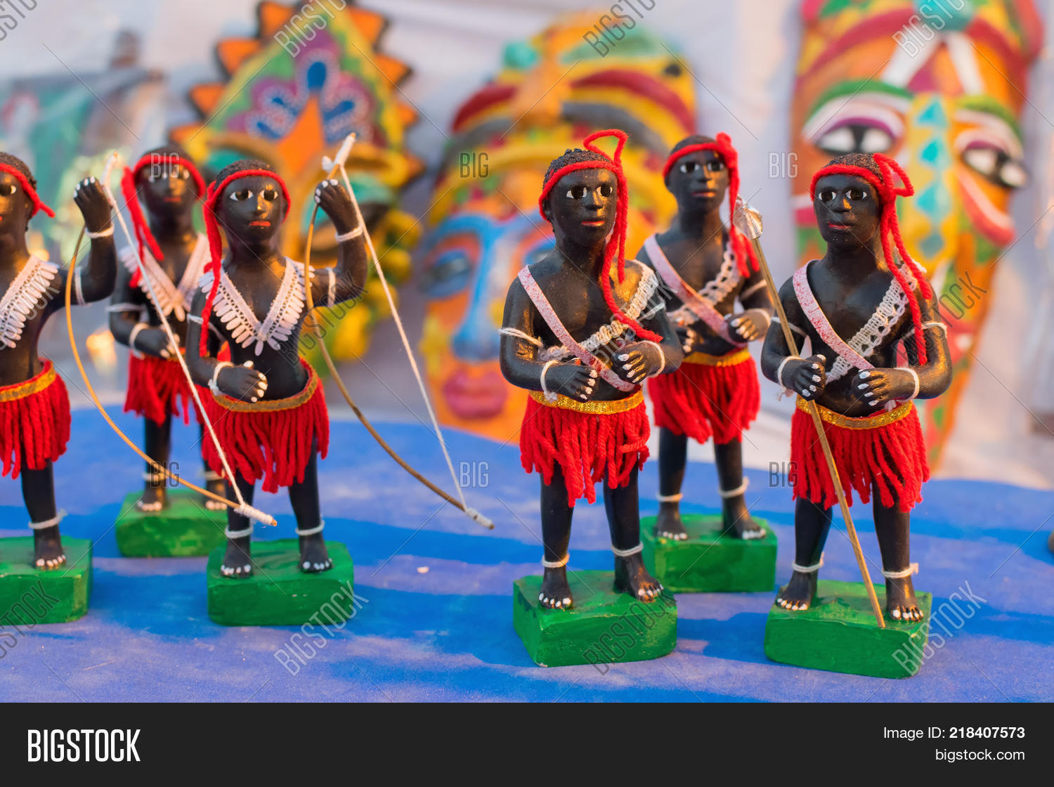 Clay Made Tribal Men Image Photo Free Trial Bigstock